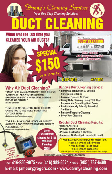 commercial cleaning services flyer